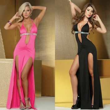 VLX2WL Hot Deal Cute On Sale Sexy Spaghetti Strap Split Prom Dress Ball Gown Club Exotic Lingerie [8864109319]