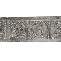 Antique Vintage Headboard Kamasutra Love Posture Wall Sculpture, Eclectic Decor, Wall Hanging Unique Carving