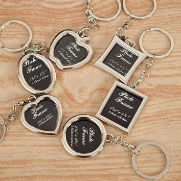 HOT Keychain Frames Creative Metal Alloy Insert Photo Picture Logo Artworks Frame Keyring Keychain Fob Best Love Gifts