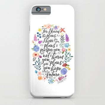 Hope and a Future - Jeremiah 29:11 iPhone & iPod Case by Noonday Design