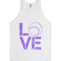 Love Softball-Unisex White Tank