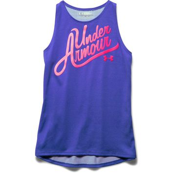 Under Armour Girl's UA Aloha Wordmark Tank