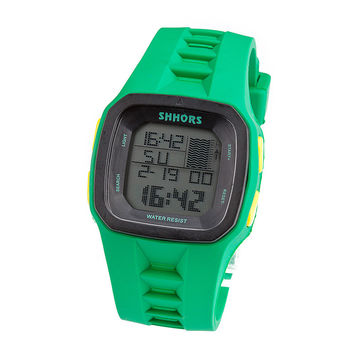 Water Proof Stylish Silicone Waterproof Outdoors Multifunction Fashion Electronic Digital Watch = 4815432196