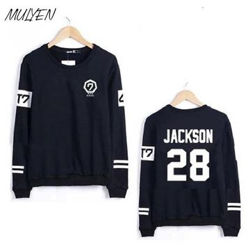 MULYEN Got7 Kpop Harajuku Hoodies And Sweatshirt Women Couple Clothes Hip Hop Letters Print Hoodie Sudaderas Mujer