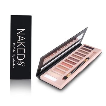 Women 12 Colors Shimmer Or Matte Eyeshadow Makeup Palette Long Lasting Eye Shadow Natural Nude Naked Eyes Cosmetics With Brush