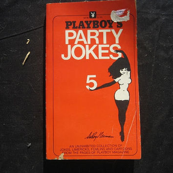 1980 1st Edition 4th Printing Playboy's Party Jokes Volume 5 Red Paperback