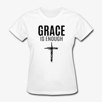 Grace | Cross | Christian | Faith | Religious T-Shirt | Christian Life Apparel