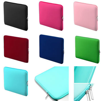 Soft Laptop Liner Sleeve Bag Protective Zipper Notebook Case Computer Cover for 11 13 14 15 inch For Macbook Air Pro Retina