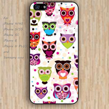 iPhone 5s 6 case watercolor owl case cartoon colorful phone case iphone case,ipod case,samsung galaxy case available plastic rubber case waterproof B515