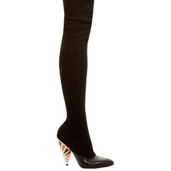 Cone-heel over-the-knee suede boots | Givenchy | MATCHESFASHION.COM US
