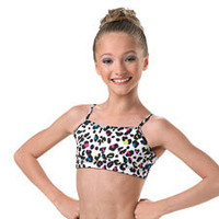 Animal Print Camisole Dance Bra Top; Balera