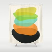 Modern minimal forms 35 Shower Curtain by naturalcolors