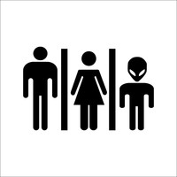 Alien Washroom Sticker
