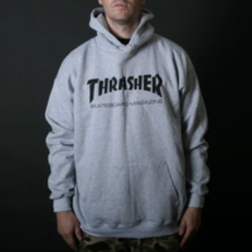 THRASHER MAGAZINE SKATE MAG MEN'S HOODIE IN Grey (312671-GRY)
