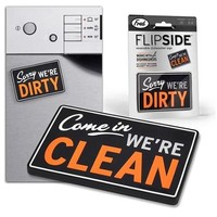 Amazon.com: Fred and Friends FLIPSIDE Reversible Dishwasher Sign with Magnet