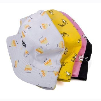 2018 Popular Unisex Hip Hop Outdoor Sports Summer Beach Shade Sun Fishing Banana Bucket Hats