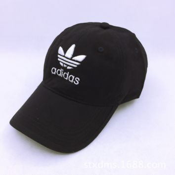 Navy Blue Adidas Embroidery Cotton Baseball Cap Hats