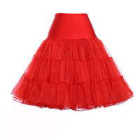 Short Organza Petticoat Crinoline Red Blue Black Vintage Wedding Bridal Petticoat for Dresses Underskirt Tutu