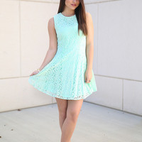 hold on to me dress - mint