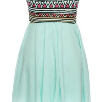 Strapless Tribal Dress