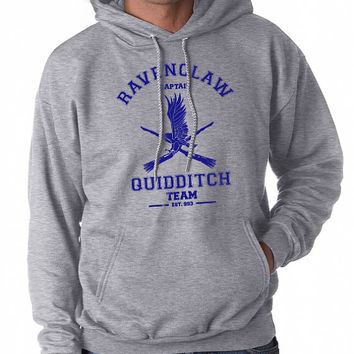 CAPTAIN Ravenclaw Quidditch GREY Pullover Hoodie S to 3XL