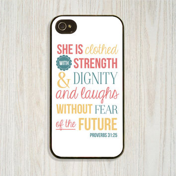 Inspirational Verse, Custom, Personalized iPhone 5 5s, iPhone 4 4s Encourage Cellphone Case, Samsung Galaxy s4 s5 Case, Christian Cell Cover