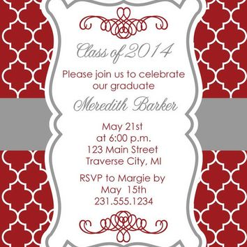 Moroccan Graduation Announcements
