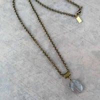 Labradorite Pendant Chain Necklace