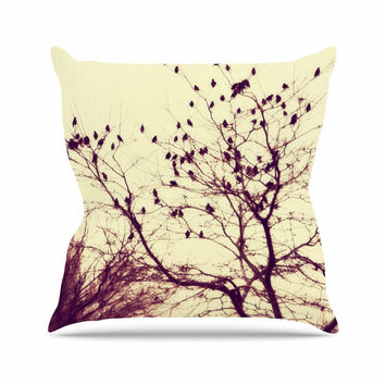 "Sylvia Coomes ""Darkness Into Light "" Green Nature Throw Pillow"