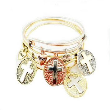 womens mens fashion casual adjustable vintage cross bracelet best gift 2