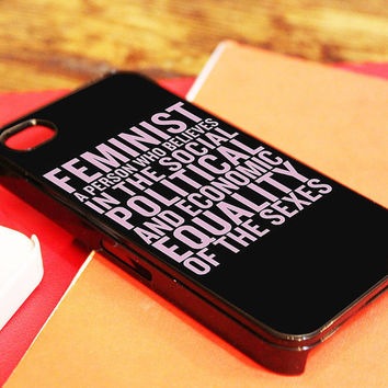 Beyoncé Feminism Lyric Cover Case iPhone 4/4s, iPhone 5/5s and Samsung Galaxy S3/S4 color Black or White