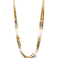 Multi Chain & Metallic Beaded Necklace by Charlotte Russe