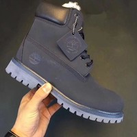 Timberland Rhubarb Boots Fashion Men Women Shoes Waterproof Martin Boots Couple Shoes Blue I