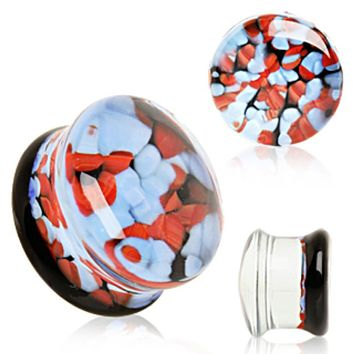 Pebble Glass Saddle Plug