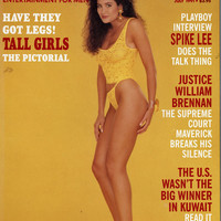 "Vintage Playboy Magazine - December July 1991- ""Tall Girls Have Legs!"" - Centerfold Wendy Kay - GREAT Articles - Spike Lee Interview"