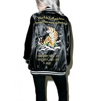 Civil Clothing Le Tigre Satin Jacket | Dolls Kill