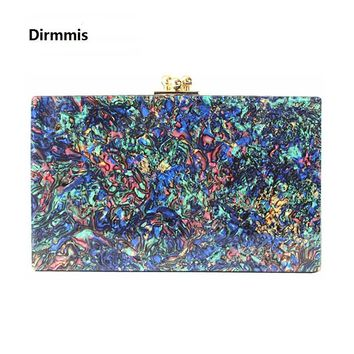 2018 Women messenger bag brand fashion New wallet fashion lady elegant Colorful Pearl Clutch Street Crossbody Bag acrylic clutch