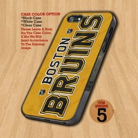 Boston Bruins NHL Team - Design on Hard Case For iPhone 5 Case