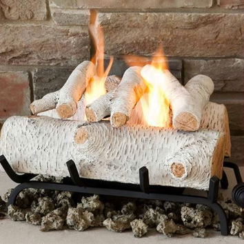 Fireplace Logs - Artificial Birch Logs