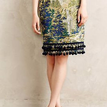 NWT Anthropologie Pommed Pencil Skirt Sz 0 , Retailed for $148, 5Star Review