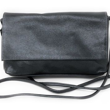 Sven Design Dark Pewter Foldover Crossbody Bag