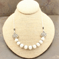 FREE SHIPPING - Sterling Silver, Freshwater Pearls, Chain, Necklace, One of a Kind, OOAK