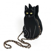 Black Kitty Cat Purse