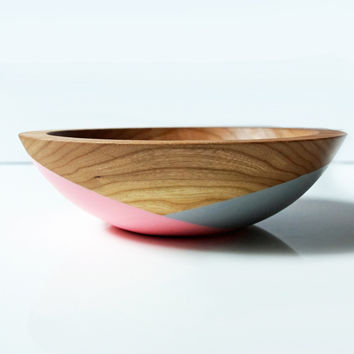 "Individual Side Bowl 7"" Small, CHERRY Wood Mother's Day Collection"