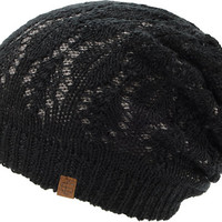 Empyre Girls Noble Grey & Black Lace Reversible Beanie
