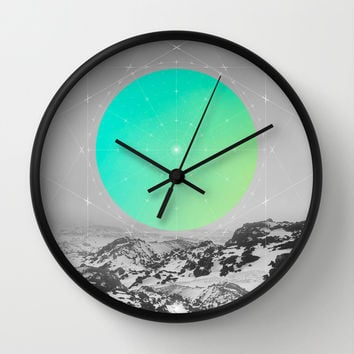 Middle Of Nowhere II Wall Clock by Soaring Anchor Designs