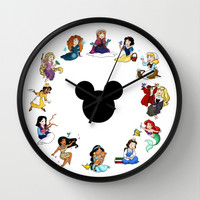 Time To Be A Princess (Anna) Wall Clock by Katie Simpson