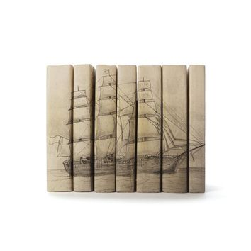 Set of Seven Sailboat Books