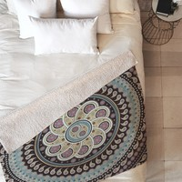 Belle13 Mandala Paisley Fleece Throw Blanket
