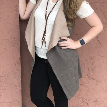 FATE Suede Sleeveless Vest